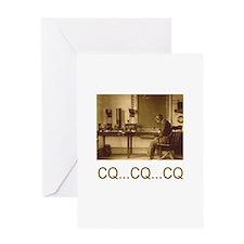 CQ...CQ...CQ Greeting Card