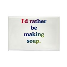 Cute Soap making Rectangle Magnet