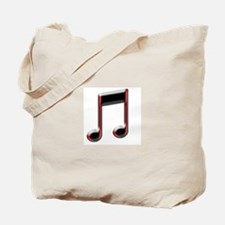 MUSICAL NOTE- RED Tote Bag