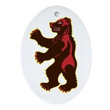Bears Ornament (Oval)