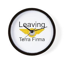 Leaving Terra Firma Wall Clock