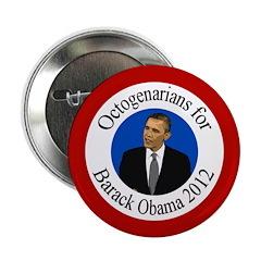 Octogenarians for Barack Obama button