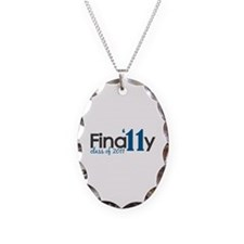 Finally Class of 2011 Necklace Oval Charm