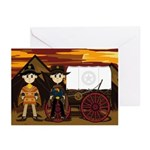 Cute Cowboy Sheriffs Greeting Cards (Pk of 20)