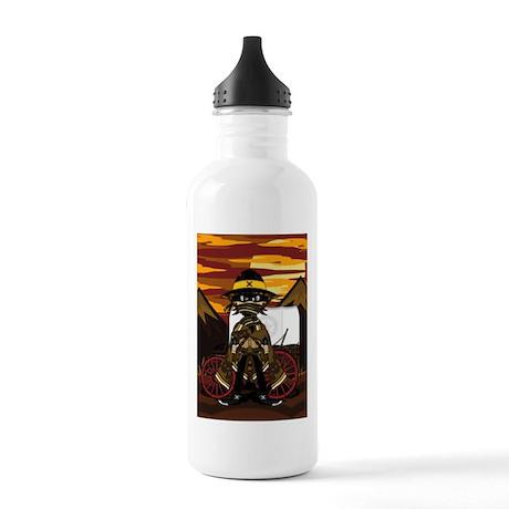 Cute Cowboy Gunslinger Stainless Water Bottle 1.0L