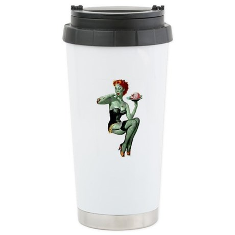 zombie pin-up girl Stainless Steel Travel Mug