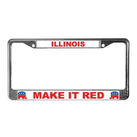 Illinois Make it Red License Plate Frame