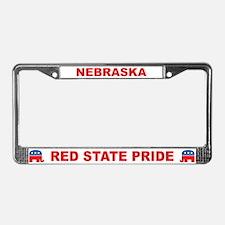 Nebraska Red State Pride License Plate Frame