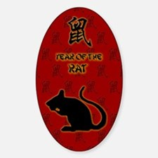 Year of the Rat Sticker (Oval)