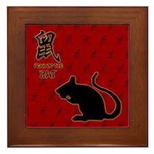 Year of the Rat Framed Tile