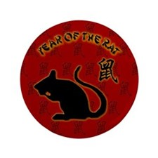"""Year of the Rat 3.5"""" Button"""