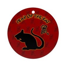 Funny Year of the rat Ornament (Round)