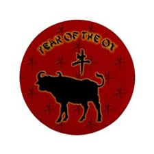 """Year of the Ox 3.5"""" Button (100 pack)"""