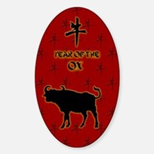 Year of the Ox Sticker (Oval)