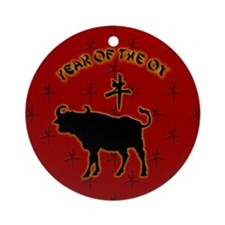 Year of the Ox Ornament (Round)