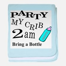 PARTY MY CRIB baby blanket