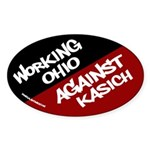 Working Ohio Against Kasich bumper sticker