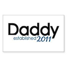 New Daddy Established 2011 Decal