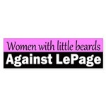 Women with Little Beards Against LePage sticker