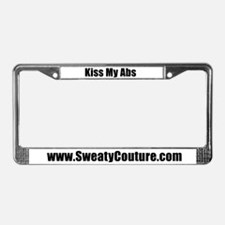 Kiss My Abs License Plate Frame by Sweaty Couture
