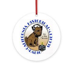 California Historical Radio S Ornament (Round)