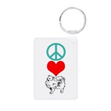 Peace Love Pomeranian Keychains