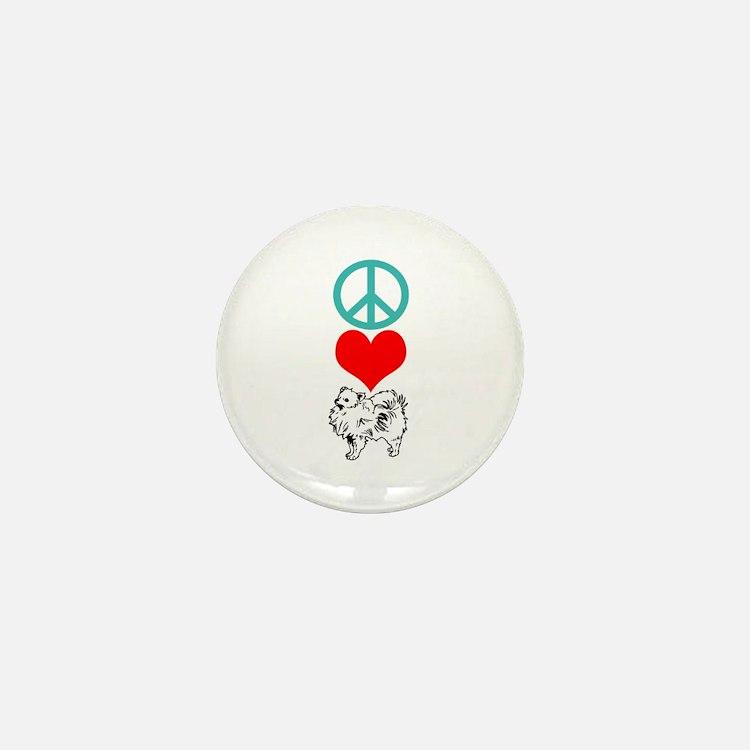 Peace Love Pomeranian Mini Button