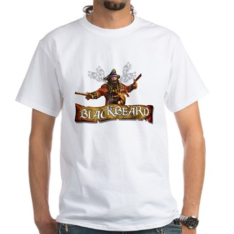 Blackbeard White T-Shirt