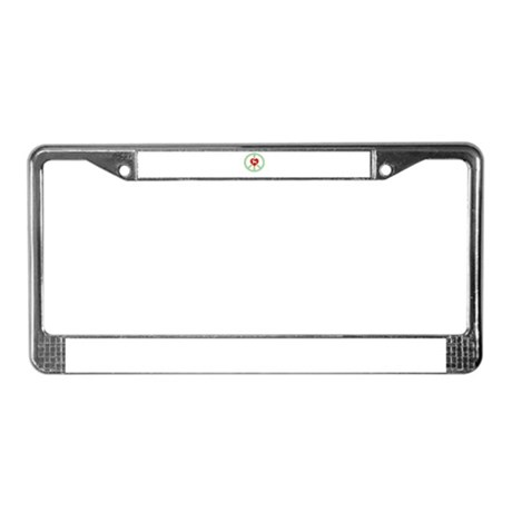 Peace Love Dachshund License Plate Frame
