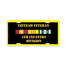 4th Infantry Division Aluminum License Plate
