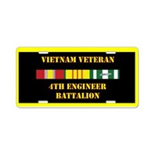 4th Engineer Battalion Aluminum License Plate