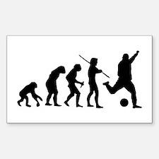 Soccer Evolution Sticker (Rectangle)
