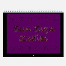 Sun Sign Zodiac Wall Calendar