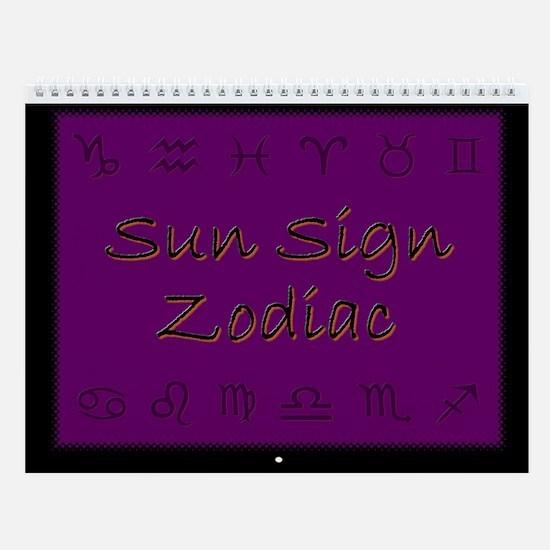 Sun Sign Zodiac Wall Calendar