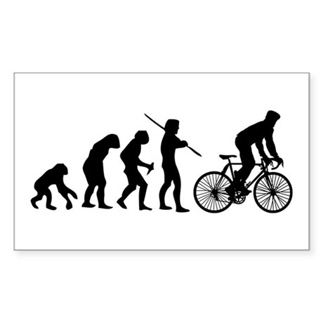 Cycling Evolution Sticker (Rectangle)