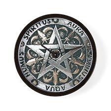 WICCAN Pentagram Wall Clock