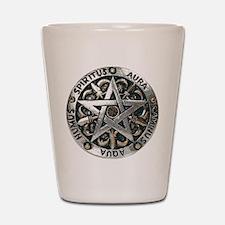 WICCAN Pentagram Shot Glass