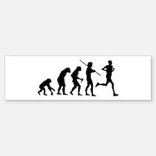 Running Evolution Bumper Bumper Sticker