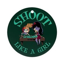 Shoot Like a Girl Ornament (Round)