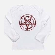 mY BLoODy pENTaGraM Long Sleeve Infant T-Shirt
