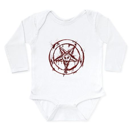 mY BLoODy pENTaGraM Long Sleeve Infant Bodysuit