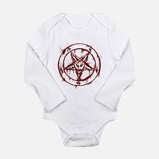 mY BLoODy pENTaGraM Long Sleeve Infant Bodysuit