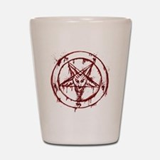 mY BLoODy pENTaGraM Shot Glass