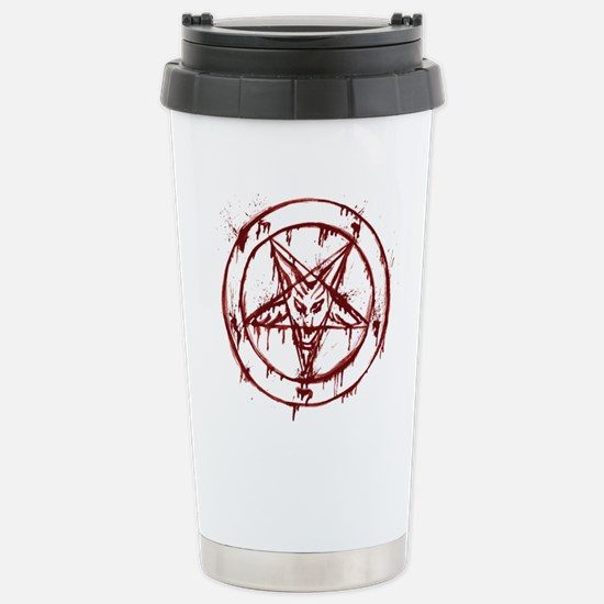 mY BLoODy pENTaGraM Stainless Steel Travel Mug