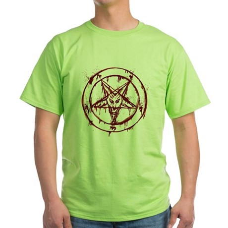 mY BLoODy pENTaGraM Green T-Shirt