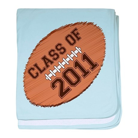 Class of 2011 Football baby blanket