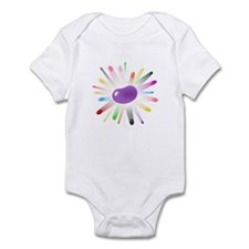 purple jellybean blowout Infant Bodysuit