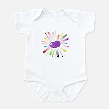 purple jellybean blowout Infant Bodysuit