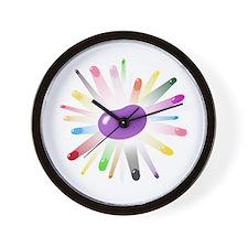 purple jellybean blowout Wall Clock