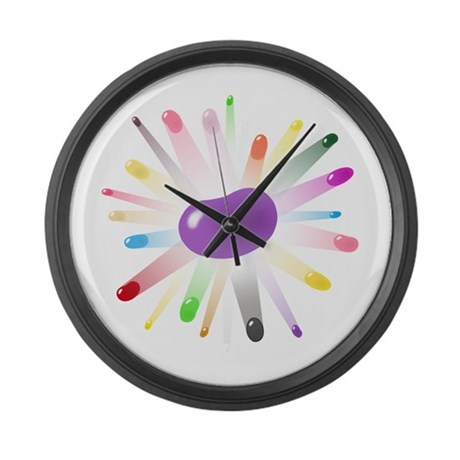 purple jellybean blowout Large Wall Clock